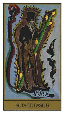 Salvador Dali's Universal Tarot Deck - Page of Wands