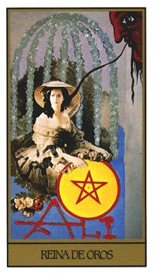 Salvador Dali's Universal Tarot Deck - Queen of Coins