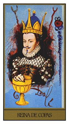 Salvador Dali's Universal Tarot Deck - Queen of Cups