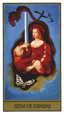 Salvador Dali's Universal Tarot Deck - Queen of Swords