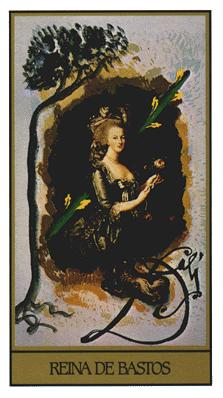 Salvador Dali's Universal Tarot Deck - Queen of Wands