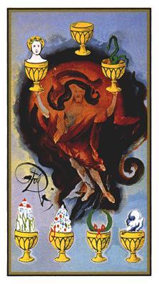 Salvador Dali's Universal Tarot Deck - Seven of Cups