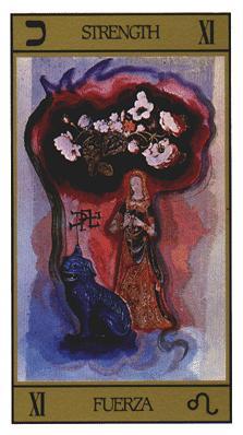 Salvador Dali's Universal Tarot Deck - Strength