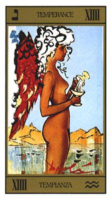 Salvador Dali's Universal Tarot Deck - Temperance