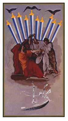Salvador Dali's Universal Tarot Deck - Ten of Swords