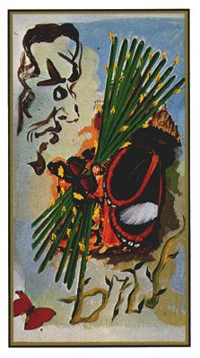 Salvador Dali's Universal Tarot Deck - Ten of Wands
