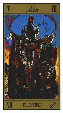 Salvador Dali's Universal Tarot Deck - The Chariot