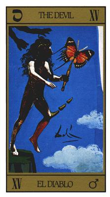 Salvador Dali's Universal Tarot Deck - The Devil