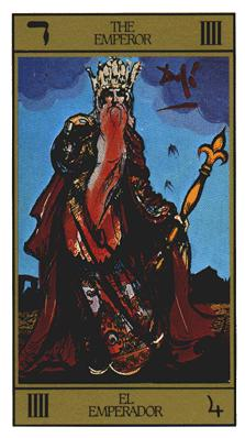 Salvador Dali's Universal Tarot Deck - The Emperor