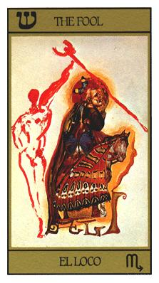 Salvador Dali's Universal Tarot Deck - The Fool