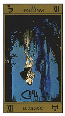 Salvador Dali's Universal Tarot Deck - The Hanged Man