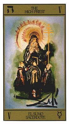 Salvador Dali's Universal Tarot Deck - The High Priest