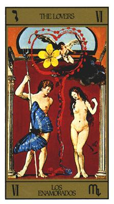 Salvador Dali's Universal Tarot Deck - The Lovers
