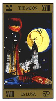 Salvador Dali's Universal Tarot Deck - The Moon