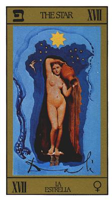 Salvador Dali's Universal Tarot Deck - The Star