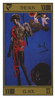 Salvador Dali's Universal Tarot Deck - The Sun