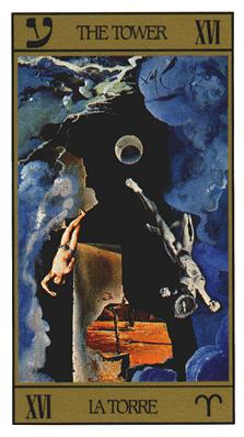 Salvador Dali's Universal Tarot Deck - The Tower