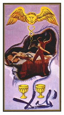 Salvador Dali's Universal Tarot Deck - Two of Cups