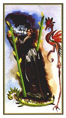 Salvador Dali's Universal Tarot Deck - Two of Wands