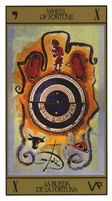 Salvador Dali's Universal Tarot Deck - Wheel of Fortune