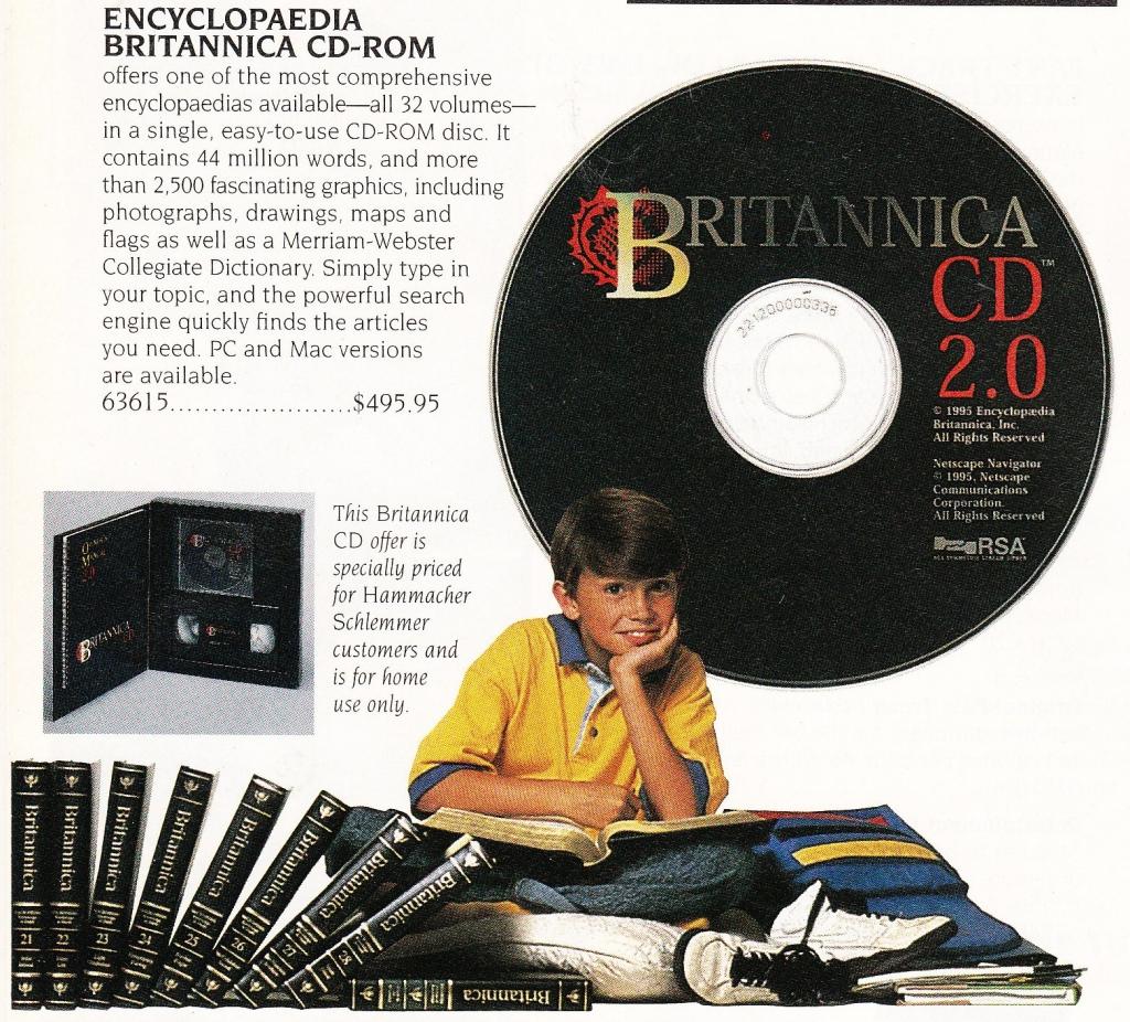 1996 Encyclopedia Britannica CD Ad