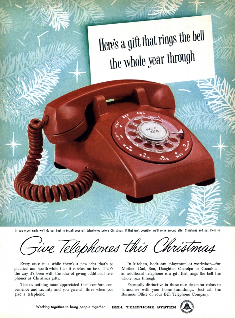 Give Telephones This Christmas (1957 Ad)