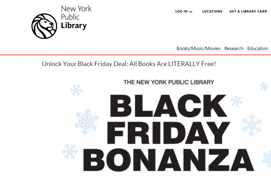 New York Public Library - Black Friday