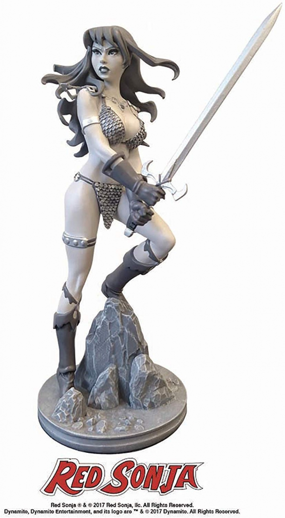 Red Sonja Statue by Amanda Conner - Black and White Artist Proof Edition
