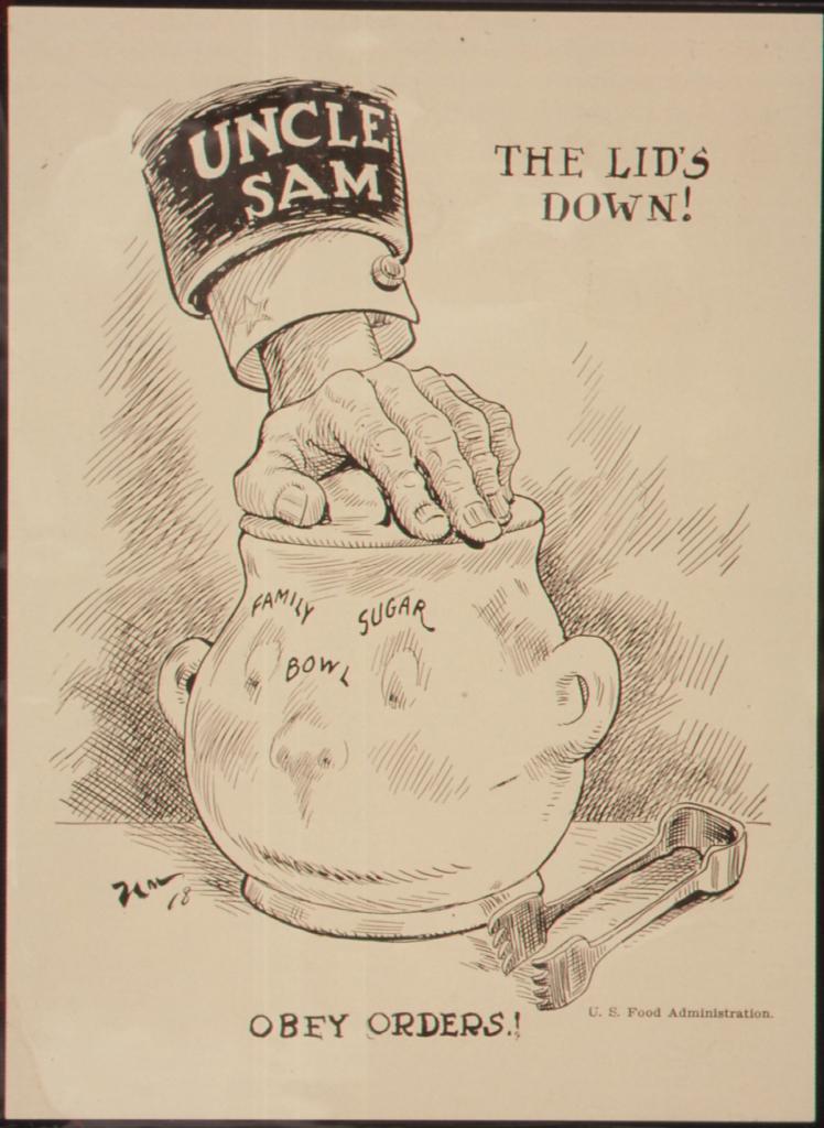 World War I Propaganda - The Lid's Down! Obey Orders!