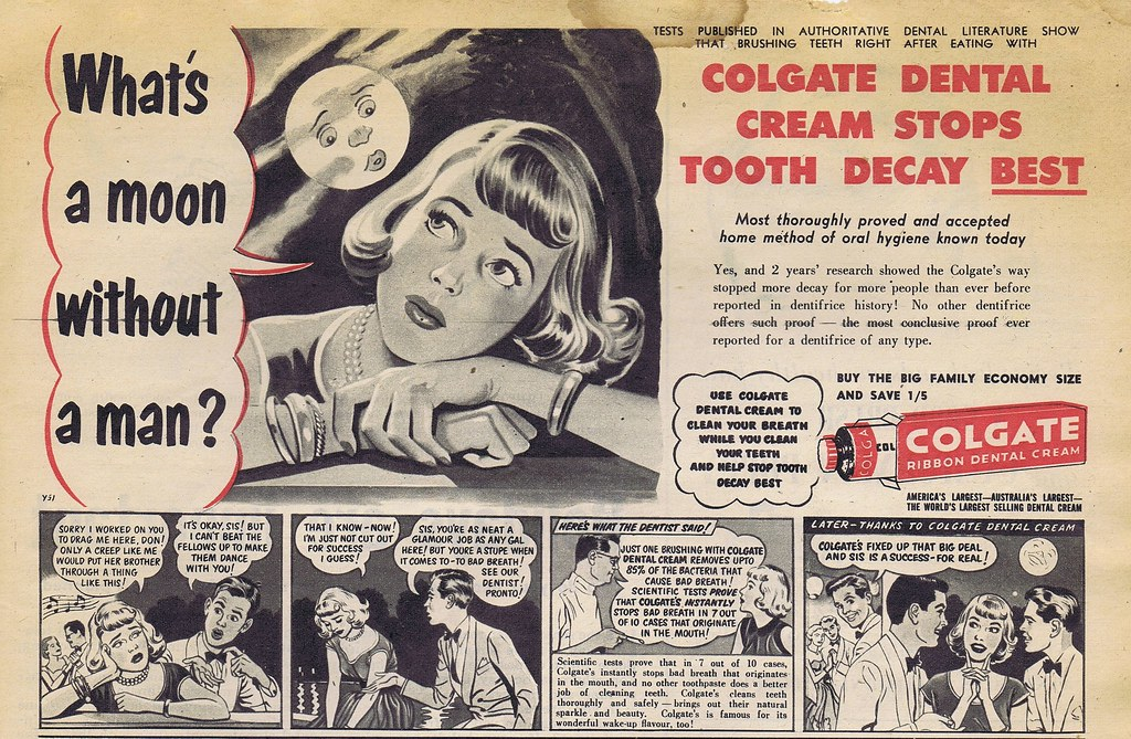 Colgate Ad: What's A Moon Without A Man?