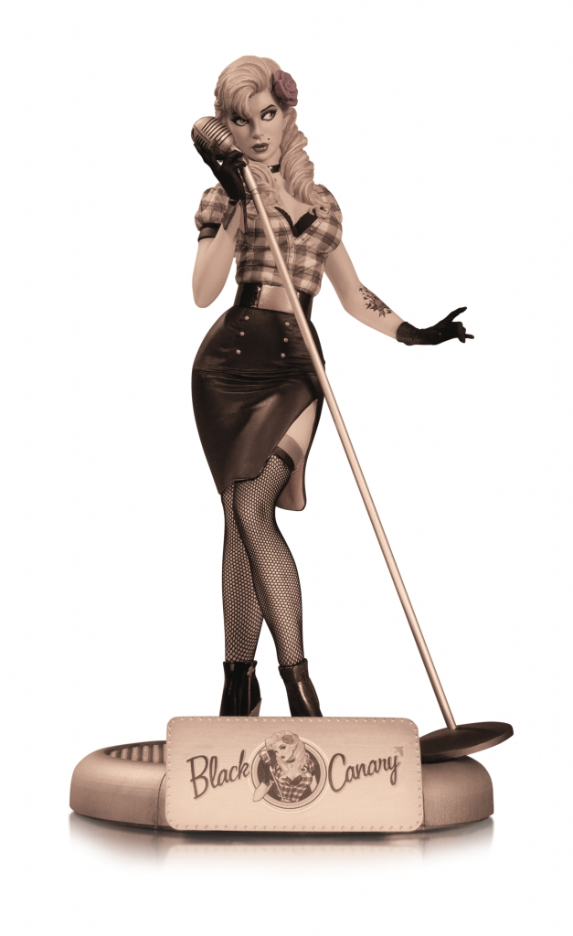 DC Bombshells - Black Canary Sepia Tone Variant Statue