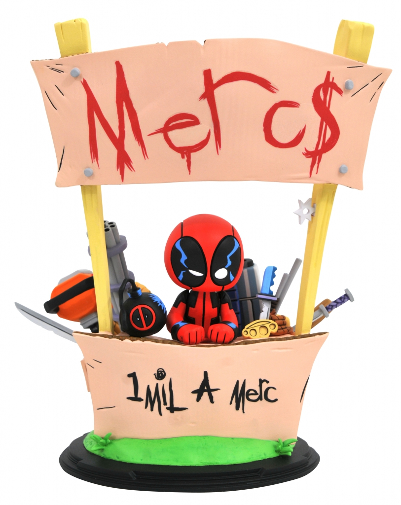 Deadpool Merc$ For Hire Statue