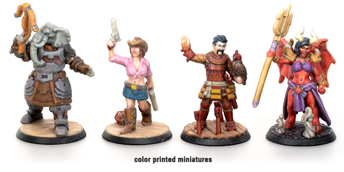 Hero Forge 2 - Color Printed Miniatures