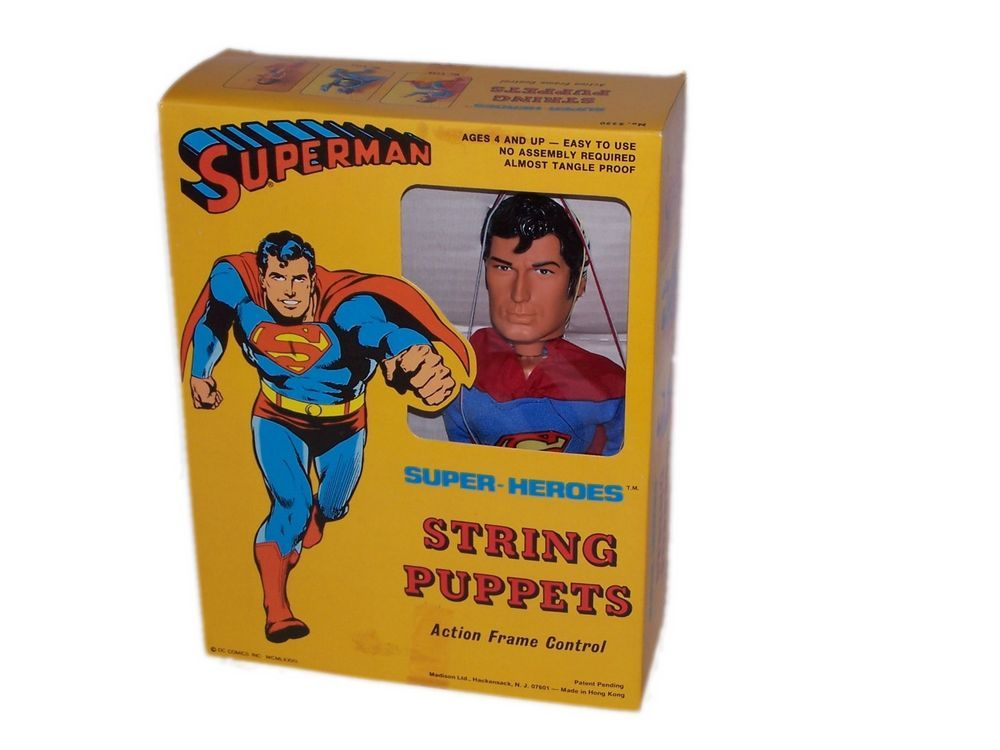 Super-Heroes String Puppets - Superman