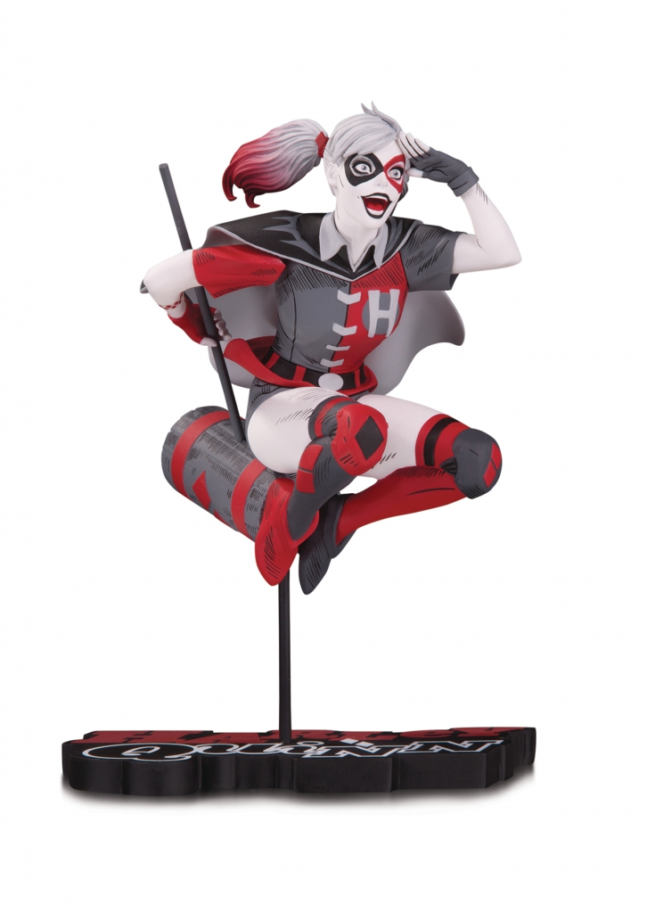 Harley Quinn Red, White & Black Statue by Guillem March