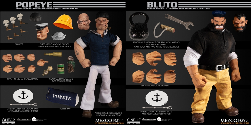 "One-Twelve Collective Popeye and Bluto ""Stormy Seas Ahead"" Deluxe Box Set"