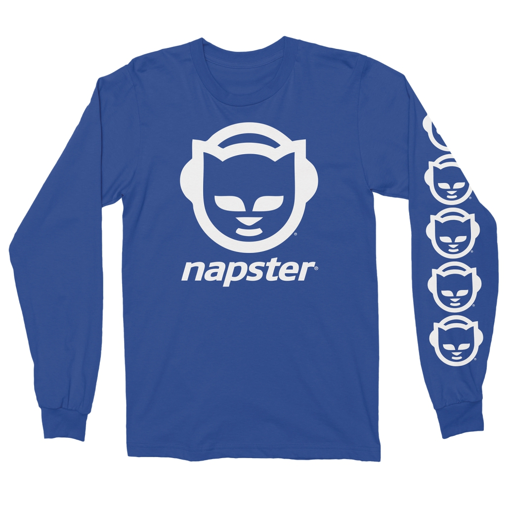 Napster Blue Long Sleeve T-Shirt