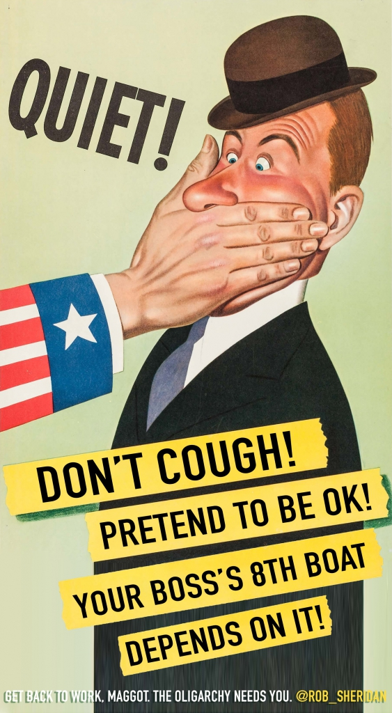 COVID-19 Parody Poster - Don't Cough! Pretend to Be Ok!