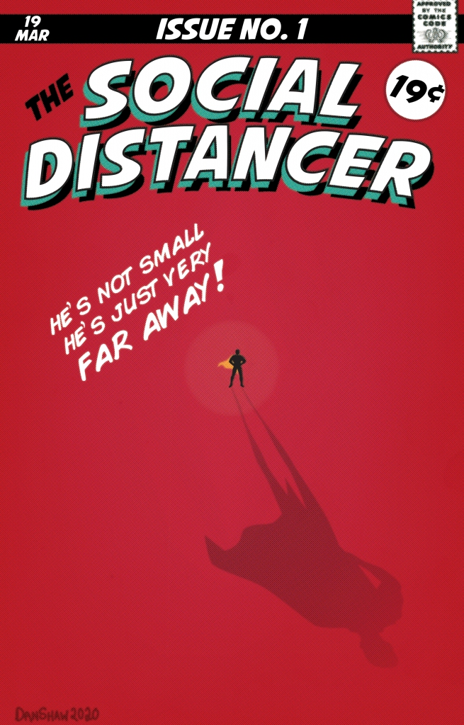 The Social Distancer Comic Book Cover
