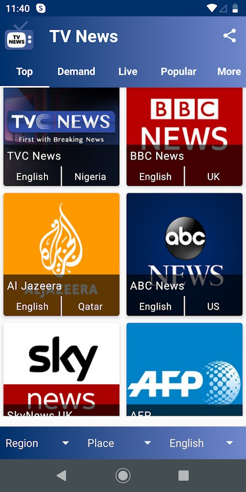 TV News App for Android