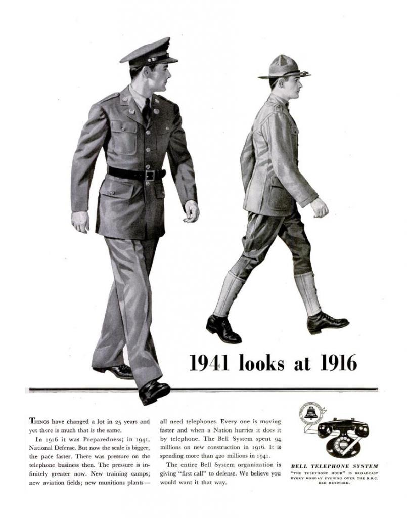 World War II Era Bell Telephone System Ad