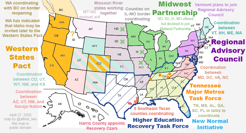 Alfred Twu's Map of State Level COVID-19 Pacts