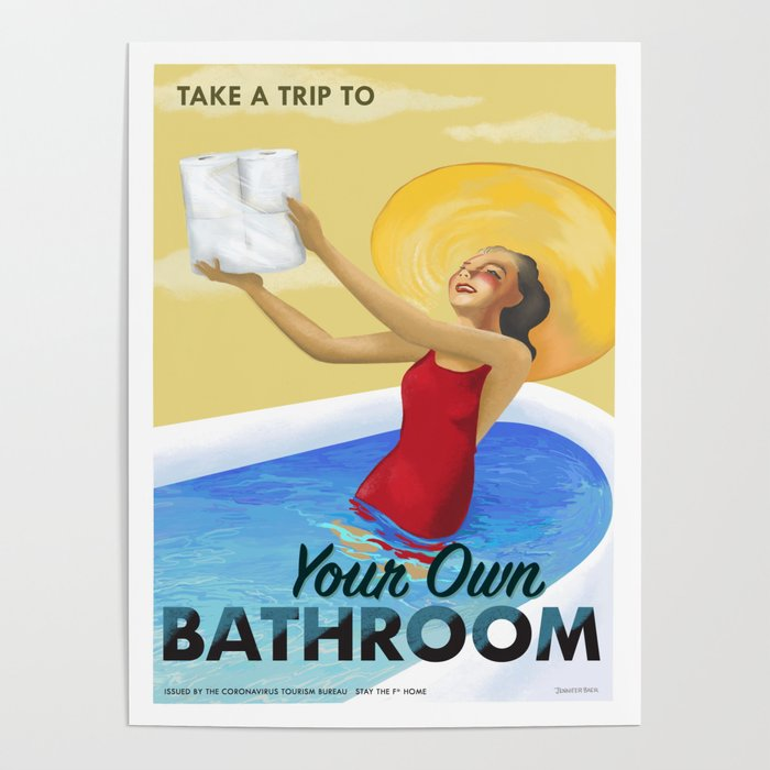 CVOID 19 Travel Posters - Take A Trip To Your Own Bathroom