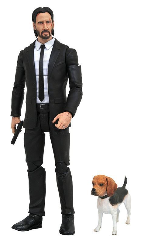 John Wick Action Figure With Dog