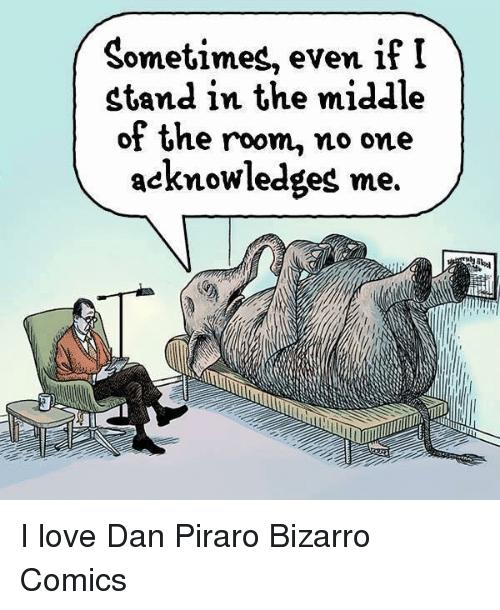 Bizarro Comics- Elephant In The Room