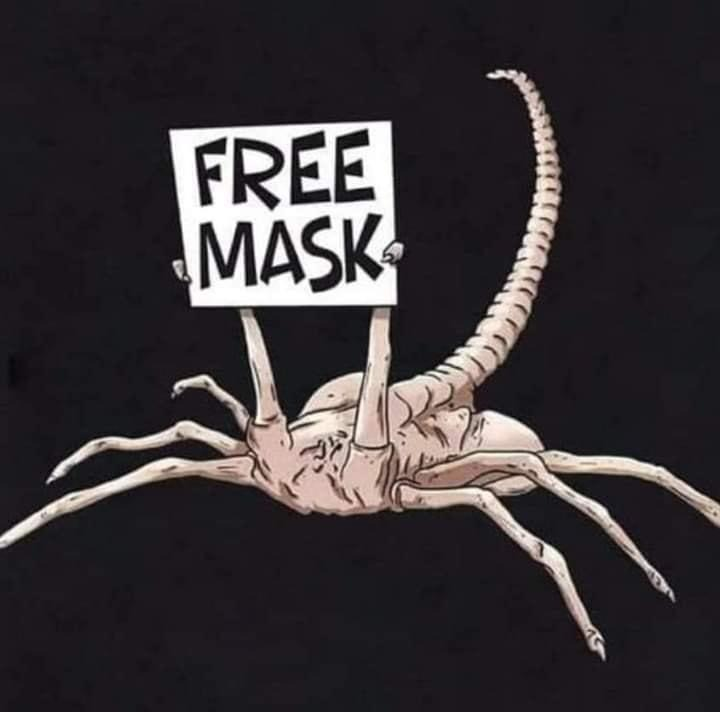 Alien Face Hugger - Free Mask