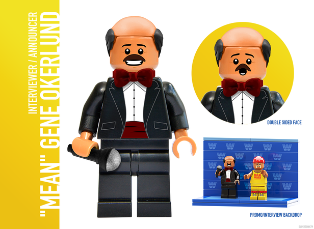 "WWE Wrestling: The Golden Era - Lego Ideas - ""Mean"" Gene Okerlund"
