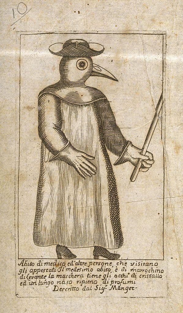 A Plague Doctor, from Jean-Jacques Manget, Traité de la peste (1721)