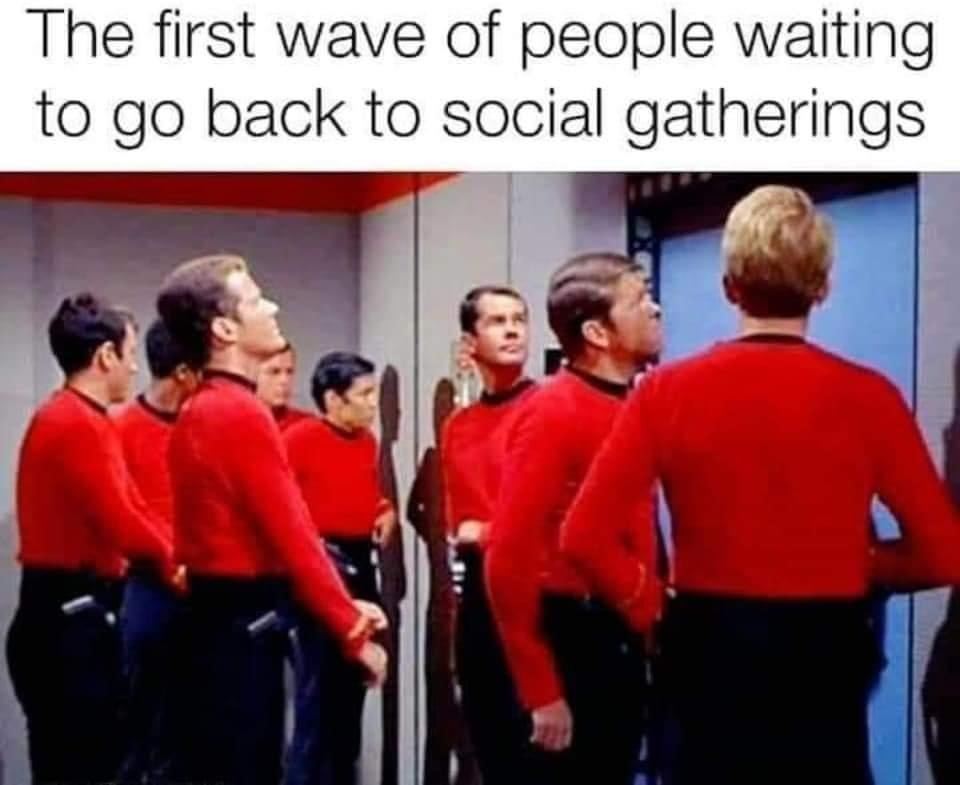 The first wave of people waiting to go back to social gatherings