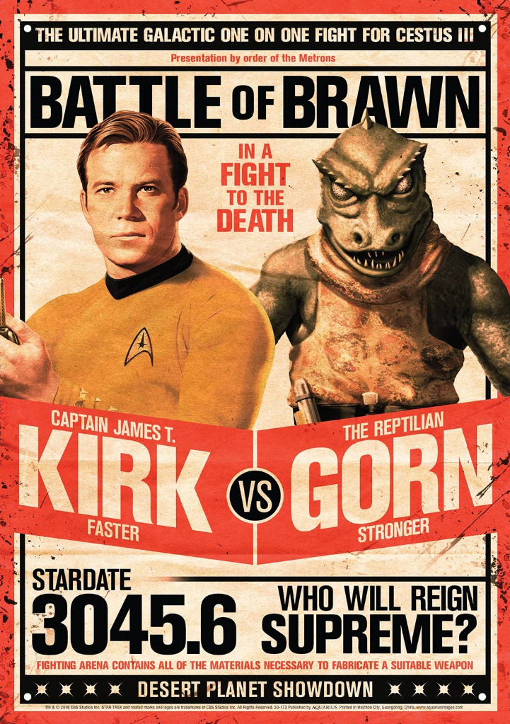 Battle of Brawn - Kirk vs. Gorn Poster